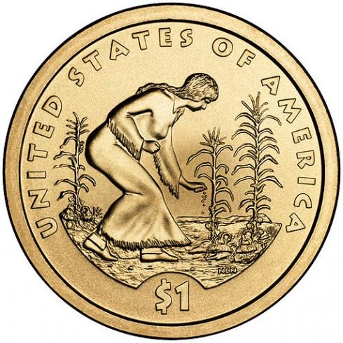 Les 3 soeurs figurent sur la série limitée 2009 du Dollar Amerindien - CC Wikimedia Commons