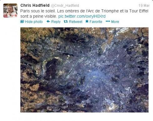 Chris Hadfiled - Paris
