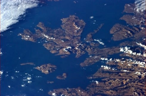 27 Févier 2013 - Ile de Skye, Ecosse.  Photo: Chris Hadfield/NASA