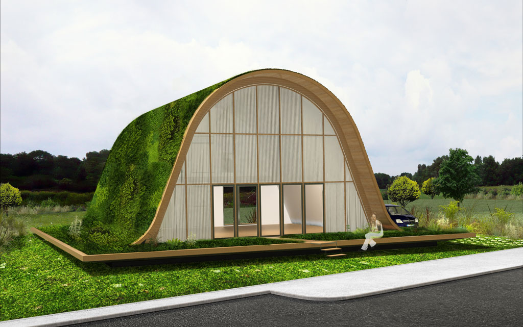 Eco lotissement la maison vague de patrick nadeau ecolopop for Architecture originale maison