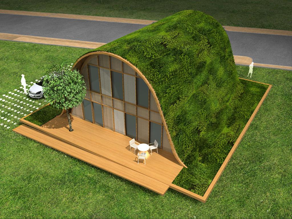 Eco lotissement la maison vague de patrick nadeau ecolopop - Maison du futur ecologique ...
