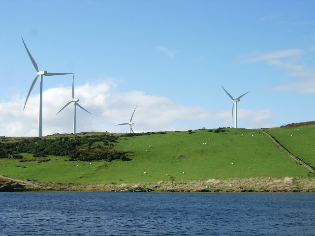 Eoliennes dans la région de Ardrossan, sur la côte sud-ouest de l'Écosse