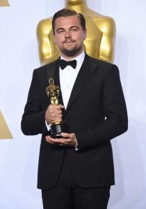 """Leonardo DiCaprio (Oscar du meilleur acteur pour le film """"The Revenant"""") - Press Room de la 88ème cérémonie des Oscars à Hollywood, le 28 février 2016.   00289494"""