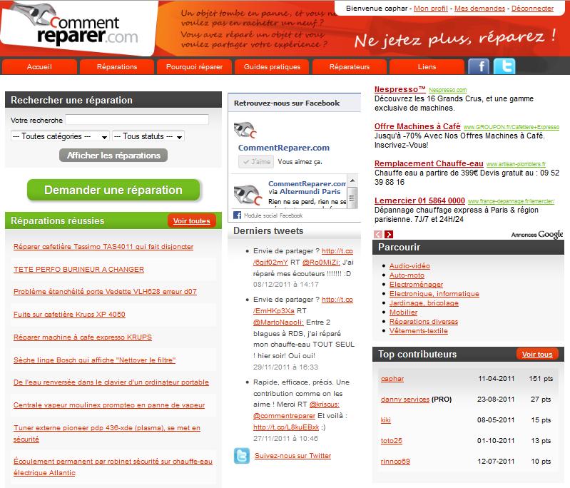 CommentReparer.com : Un site pour partager vos conseils réparation