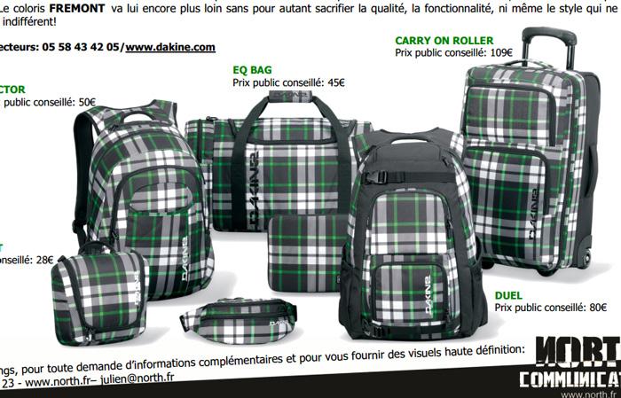 Collection de sacs recyclés DAKINE