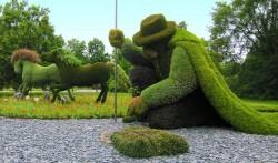Les Mosaïcultures: des sculptures horticoles géantes en 3D