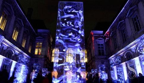 Fête des lumières de Lyon : l'installation Njörd, Esprit du vent, conçue par WeComeInPeace, reçoit le 4ème Trophée Récylum des Lumières Durables