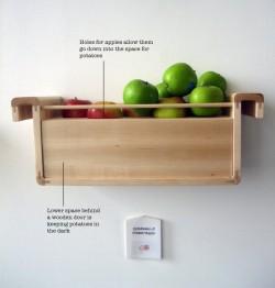 Des économies d'espace dans le frigo grâce aux légumes